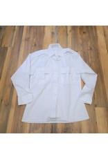 CANADIAN SURPLUS WOMEN'S WHITE DRESS SHIRT-USED