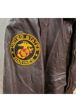 U.S. SURPLUS USMC PILOT TYPE G-1 LEATHER FLIGHT JACKET SZ 44