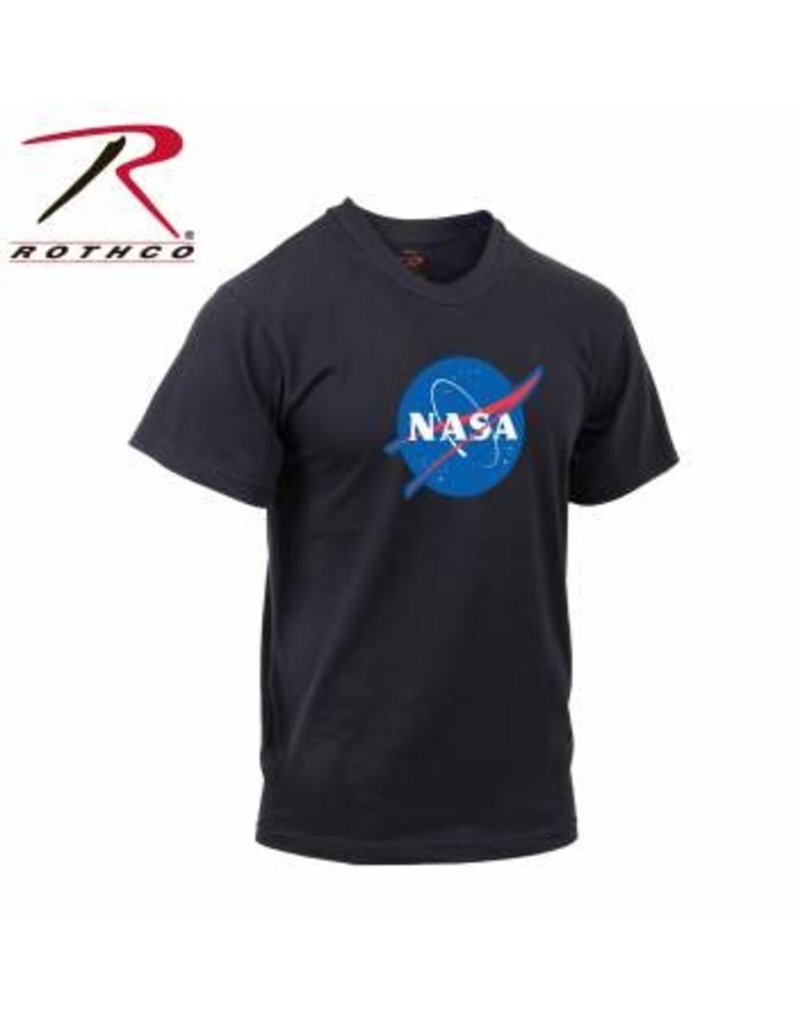 ROTHCO NASA T-SHIRT ROUND LOGO