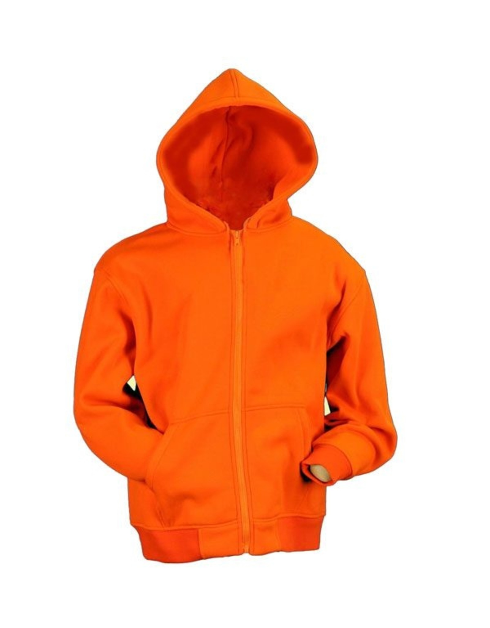 WORLD FAMOUS SALES BLAZE ORANGE ZIPPERED HOODIE SWEATSHIRT