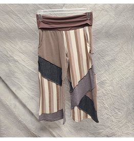 LEOPARDS & ROSES ORGANIC JACQUARD PATCH PANTS