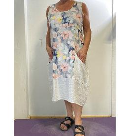 PLUM LOCO 9136 FLOWER PRINT DRESS