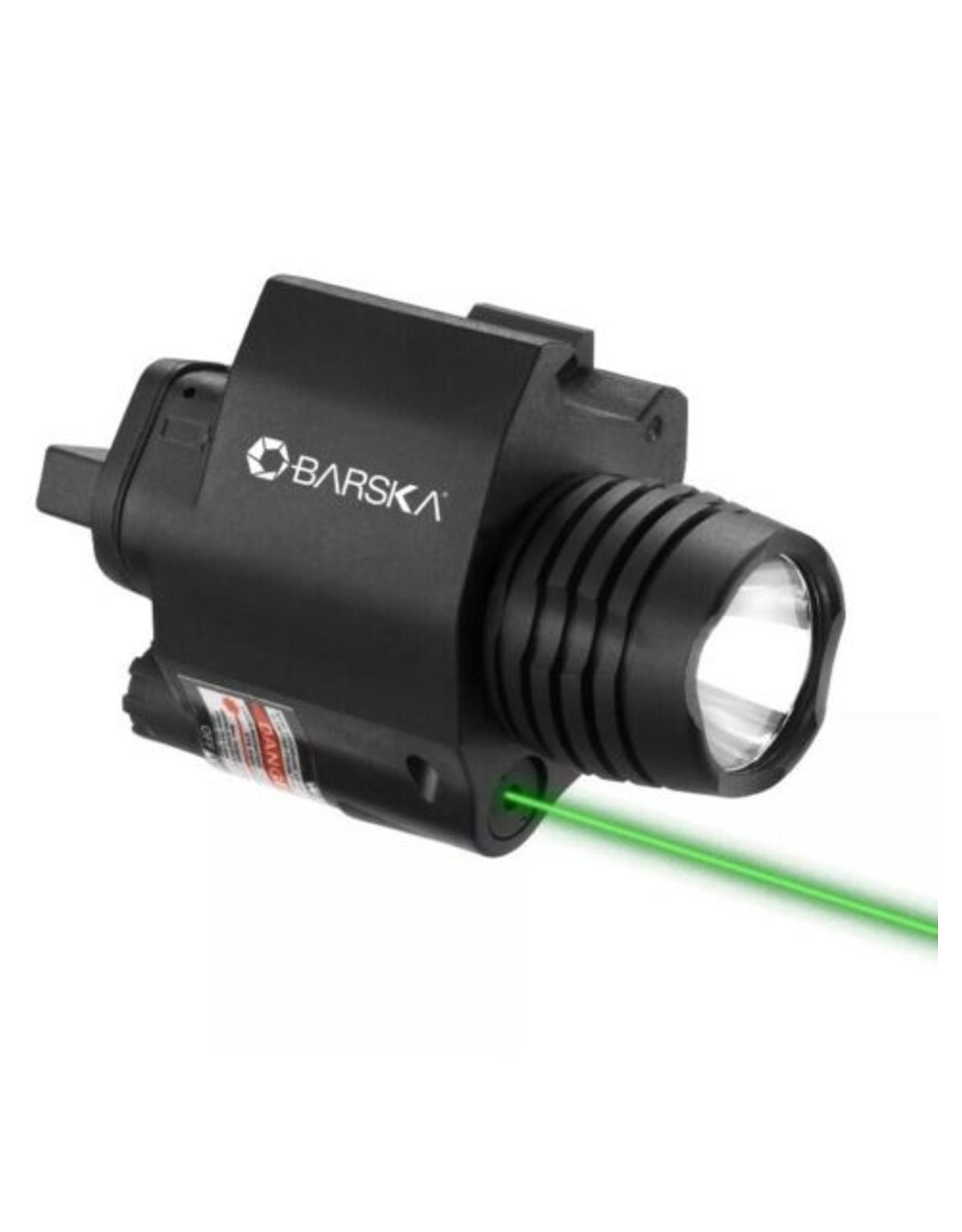 BARSKA OPTICS GREEN LASER WITH 200 LUMEN FLASHLIGHT