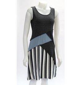 LEOPARDS & ROSES ORGANIC JACQUARD PATCH SLEEVELESS DRESS