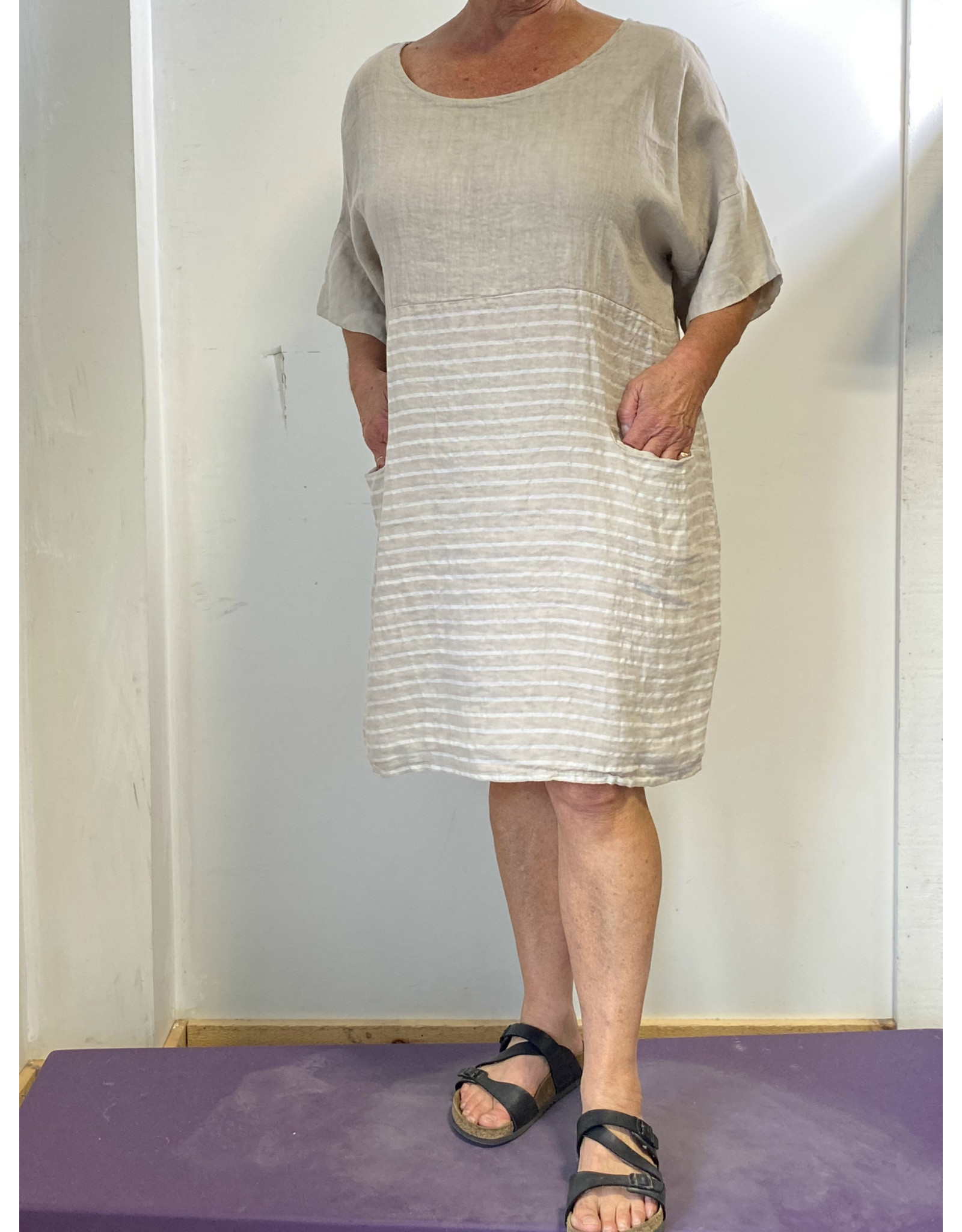 PLUM LOCO 9895 SHORT PART STRIPED  DRESS