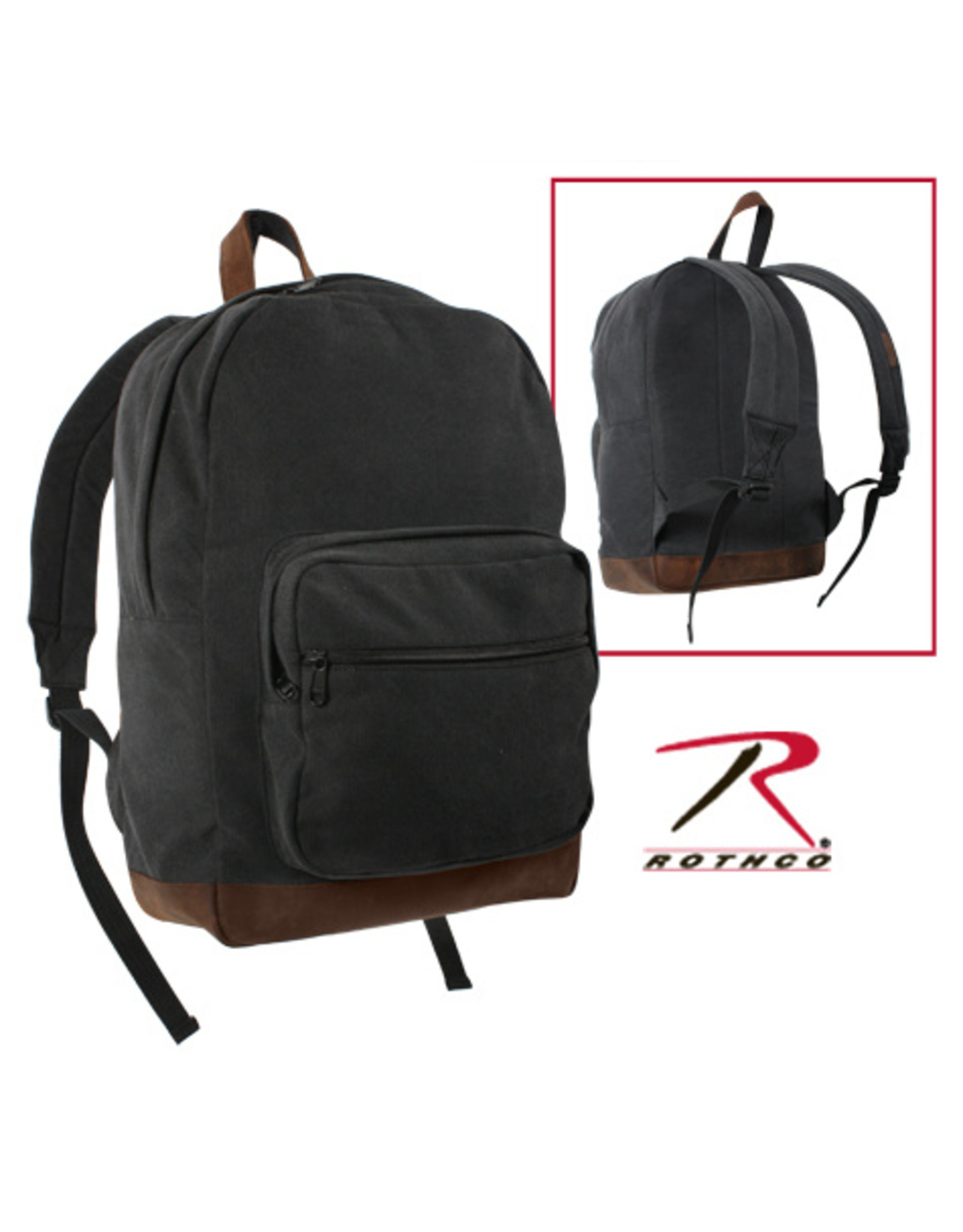 ROTHCO CANVAS TEARDROP PACK W/ LEATHER ACCENT