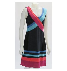 LEOPARDS & ROSES ORGANIC JACQUARD RAINBOW DRESS