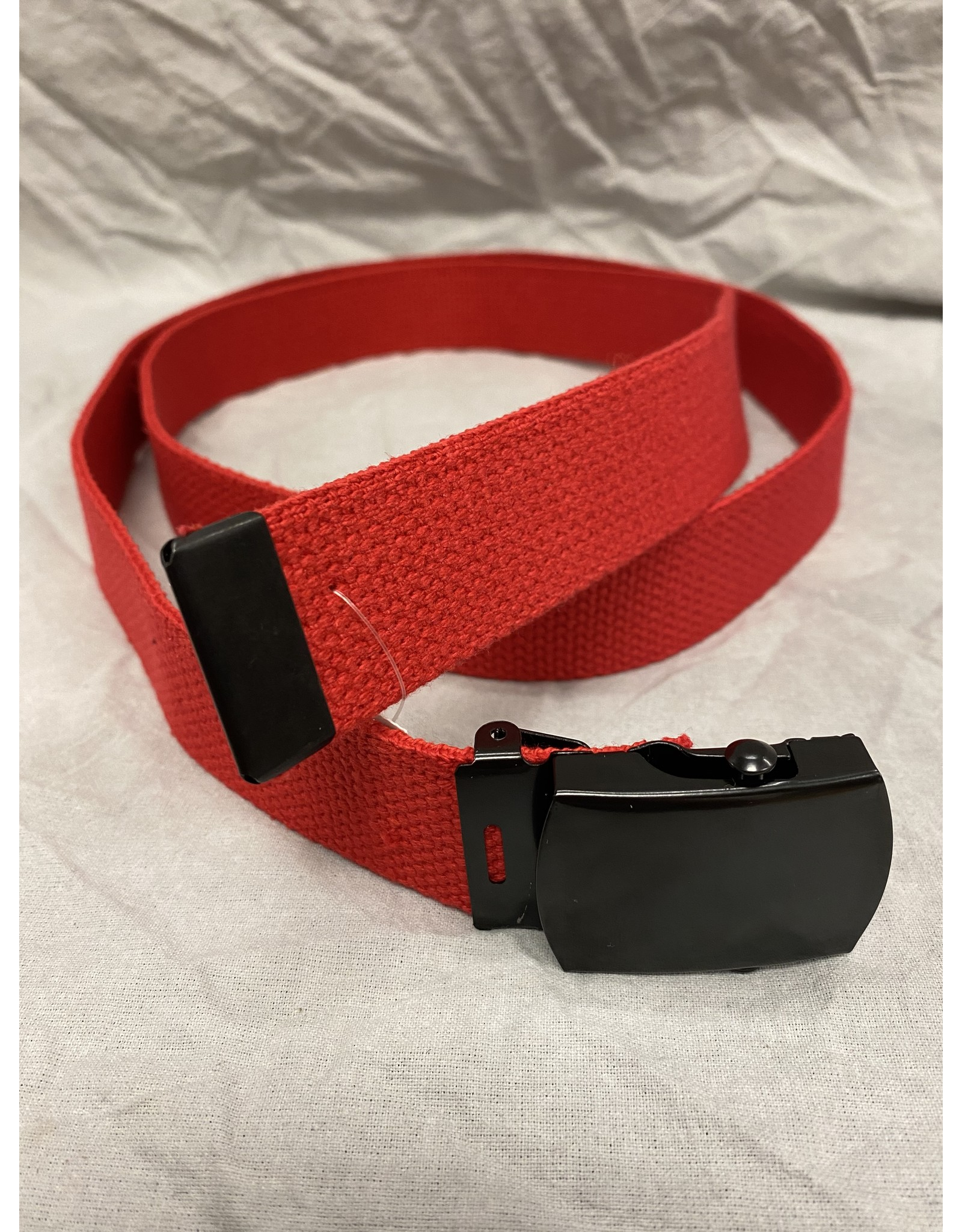 JACKSTER INC COLOURFUL WEB BELT WITH BLACK BUCKLE