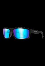 WILEY X WX PEAK, POLARIZED BLUE MIRROR/MATTE BLACK