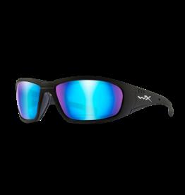 WILEY X WX BOSS MATTE BLACK FRAME / CAPTIVATE POLARIZED BLUE MIRROR LENS