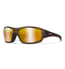 WILEY X WX BREACH MATTE HICKORY BROWN FRAME / CAPTIVATE POLARIZED BRONZE MIRROR LENS