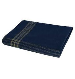 ROTHCO Rothco Navy With Gold Stripe Wool Blanket
