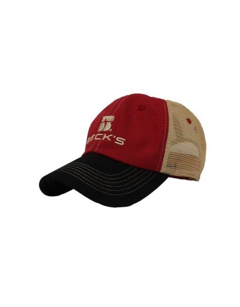 02284 Red/Black/Tan Cotton Mesh