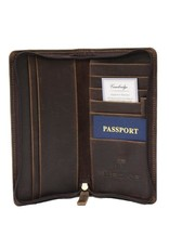 Cambridge Leather Zippered Travel Organizer