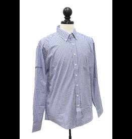 Vantage Men's Easy-Care Gingham Check Shirt - Sleeve Logo