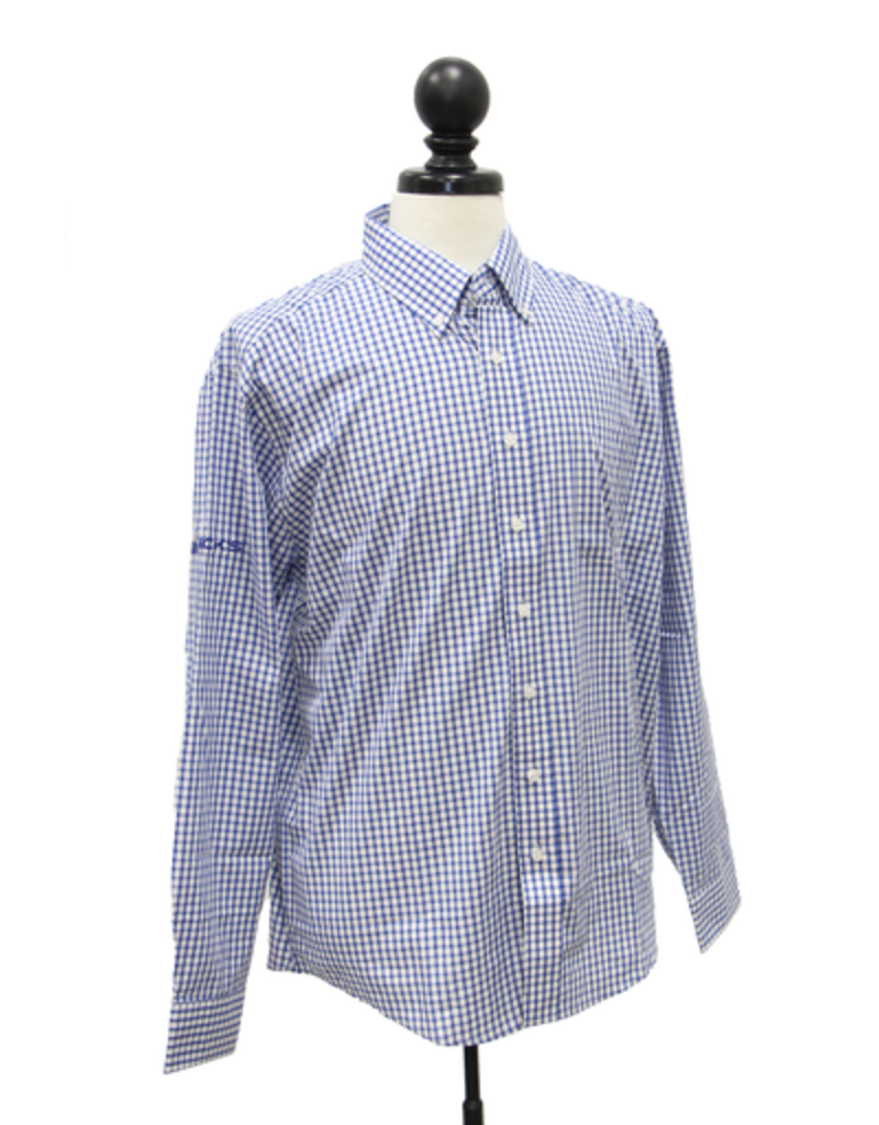 Vantage Men's Easy-Care Gingham Check Shirt
