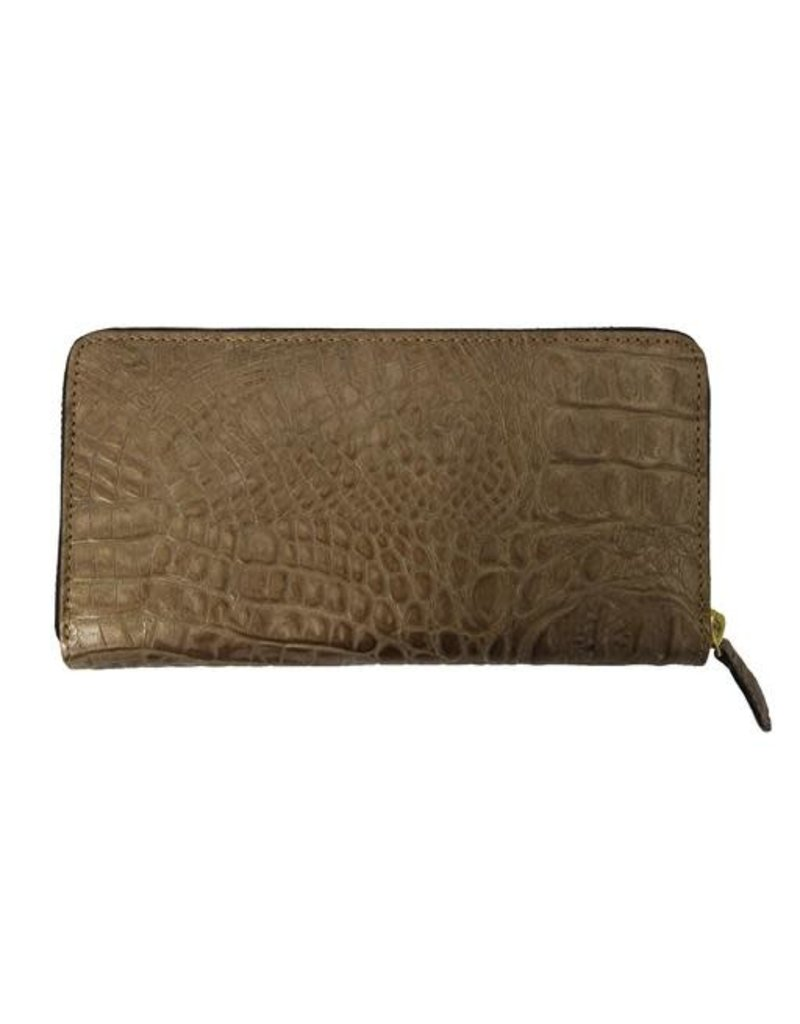 N/A Italian Croc Leather Ladies Wallet