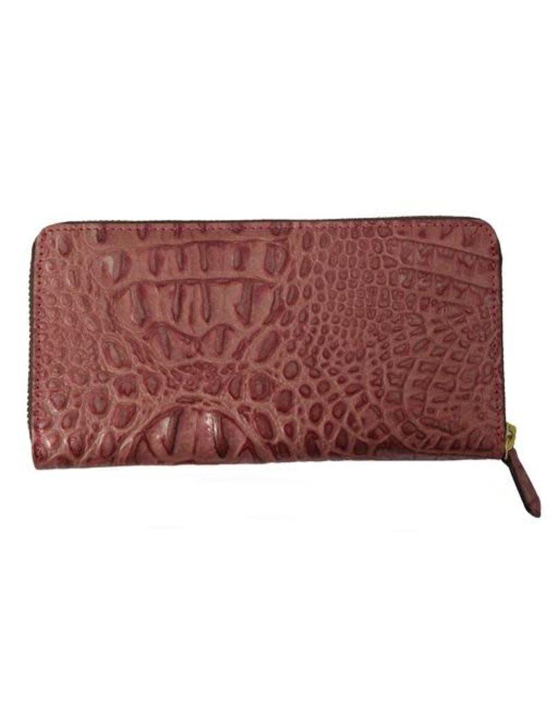 N/A Italian Croc Leather Womens Wallet
