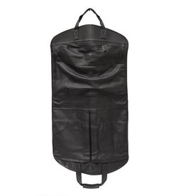 N/A Pebble Black Leather Garment Bag