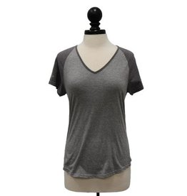 Women's Anvil Triblend Color Block V-Neck Raglan