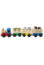 Melissa & Doug Melissa & Doug Wooden Farm Train Toy Set