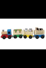 Melissa & Doug Melissa & Doug Wooden Farm Train Toy Set 01794