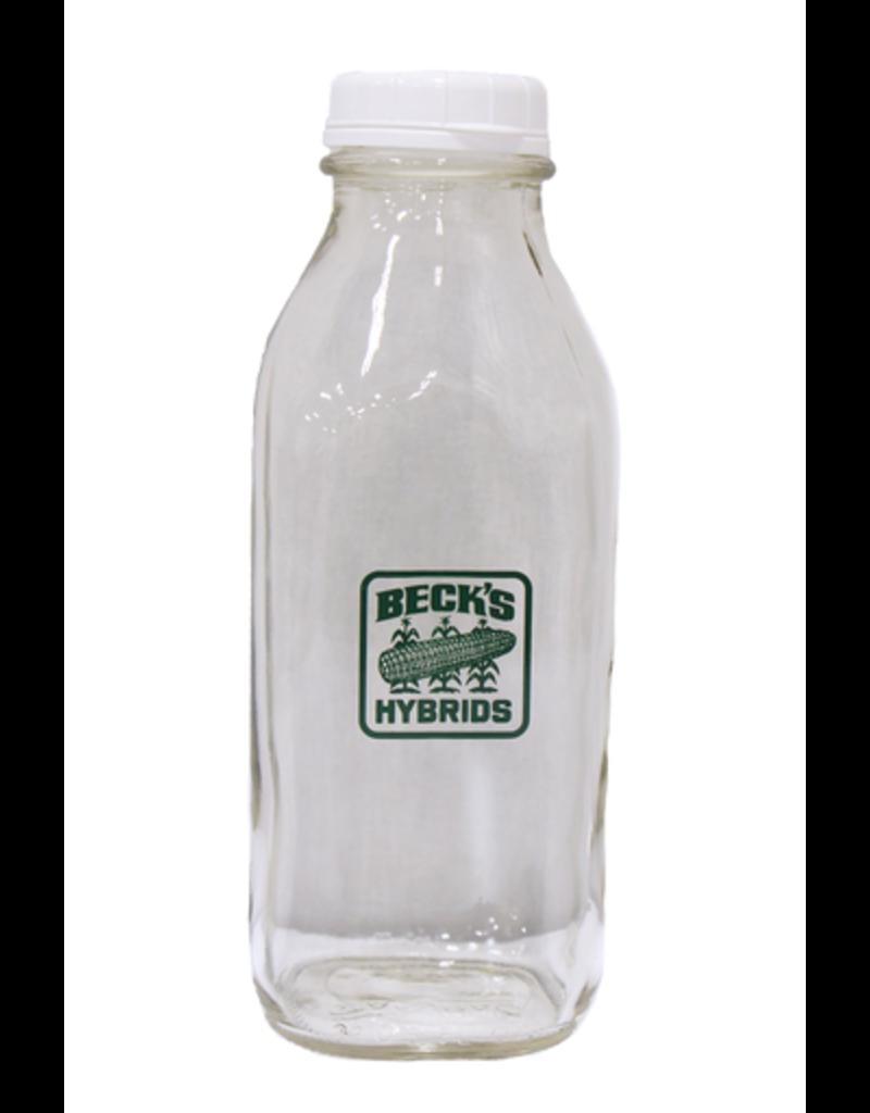 N/A Glass Milk Bottle