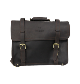 CUSTOM Custom Leather Briefcase With Shoulder Strap