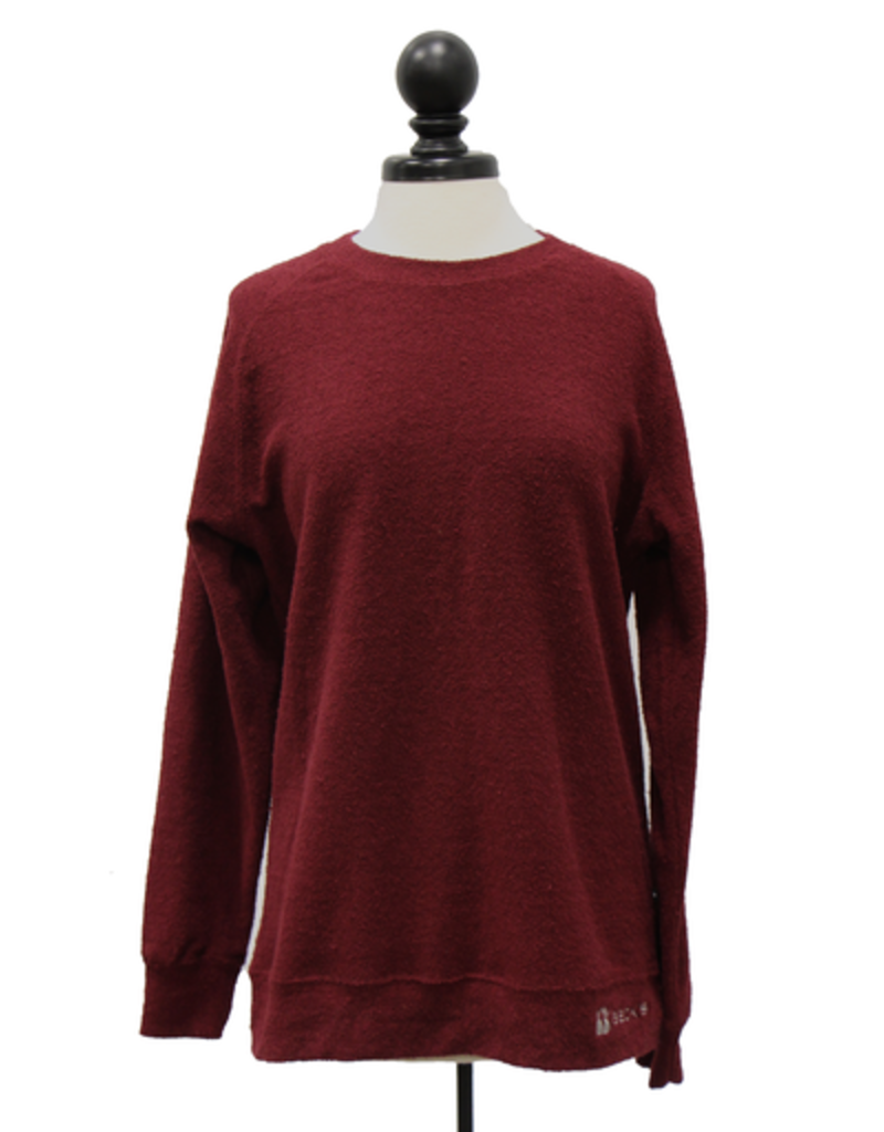 N/A 01719 Ladies Poodle Fleece Crewneck Sweatshirt