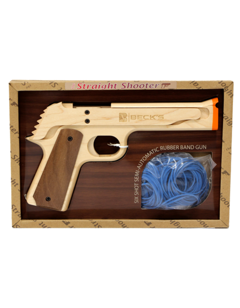 Elastic Precision Straight Shooter Wooden Rubber Band Gun