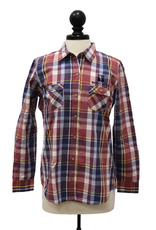 Weatherproof Vintage Women's Plaid Long Sleeve Shirt