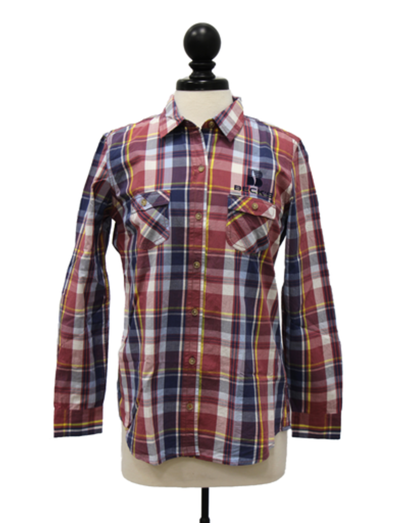 Weatherproof 01697 Vintage Women's Plaid Long Sleeve Shirt