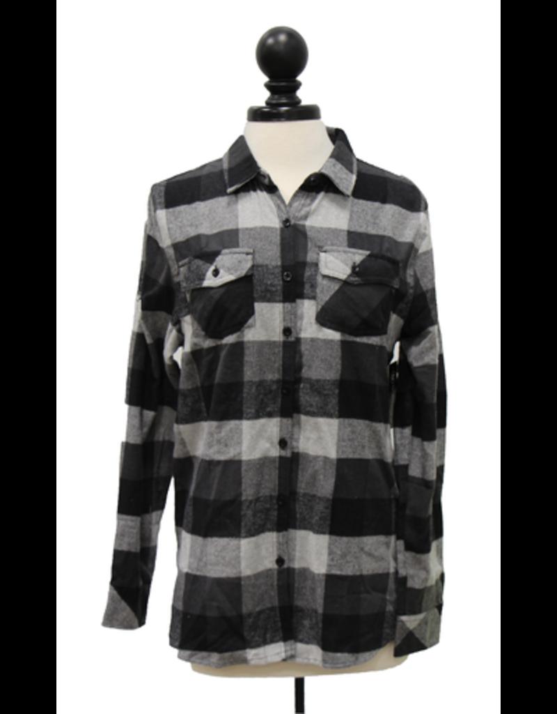 Burnside Women's Yarn-Dyed Flannel Shirt