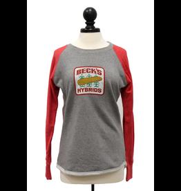 Pennant Women's Hi-Lo Crew - Vintage Logo
