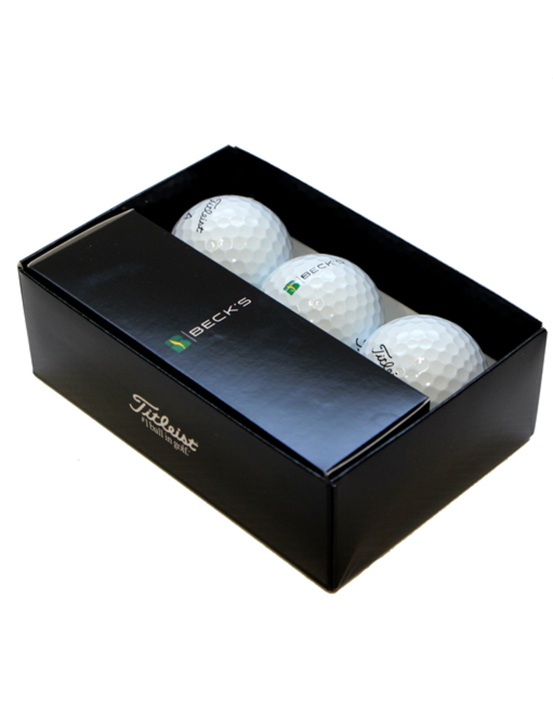 Titleist Pro V1 Golf Balls in Becks Logo Package (6pk)
