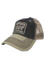 Contrast Stitch Mesh Hat w/ Vintage Logo