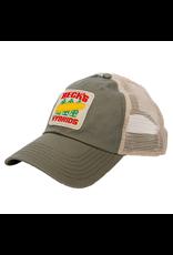 N/A Vintage Frayed Patch Mesh Back Hat