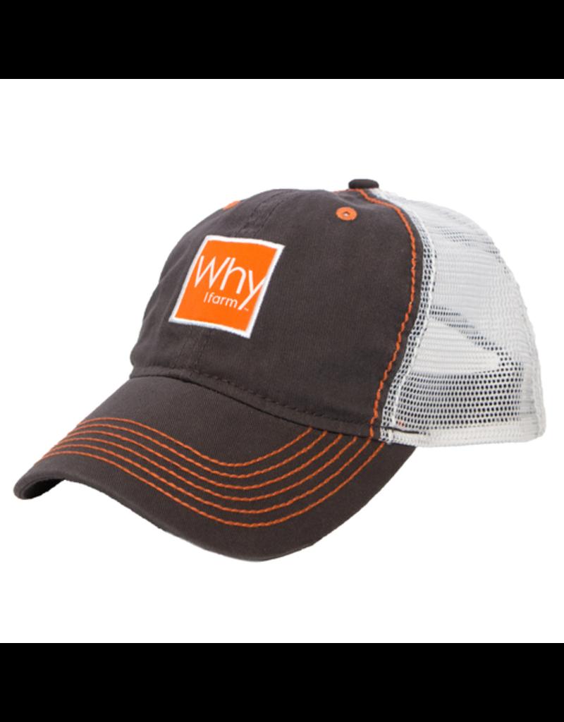 Charcoal/White Mesh 'Why I Farm' Hat