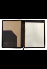 Cambridge Zippered Senior Portfolio - Rustic Brown Leather