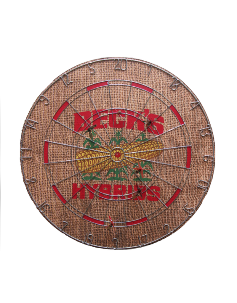 01443 Cork Lined Dartboard w/ Metal Numbers