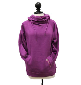01333 Ladies Hooded Funnel Neck Sweatshirt