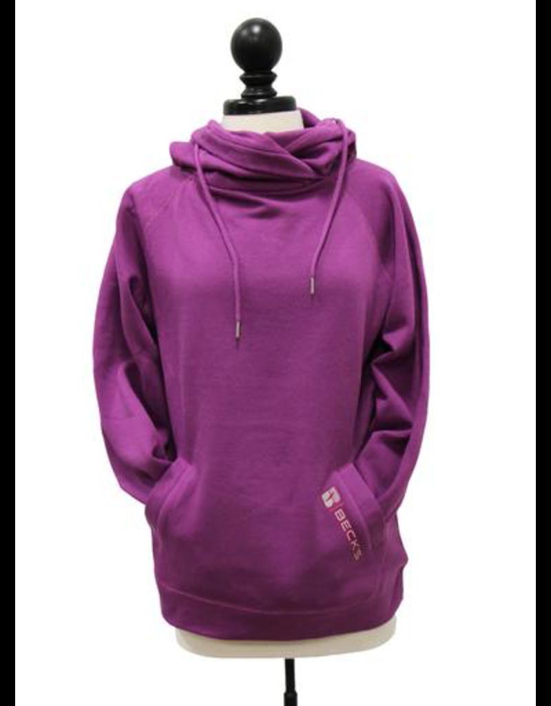 01333 Ladies Hooded Funnel Neck Sweatshirt