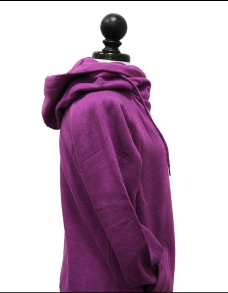 Ladies Hooded Funnel Neck Sweatshirt