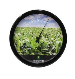 LARLU Wall Thermometer w/ Corn Field Background
