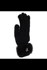 00883 Ladies Rabbit Fur Trim Gloves