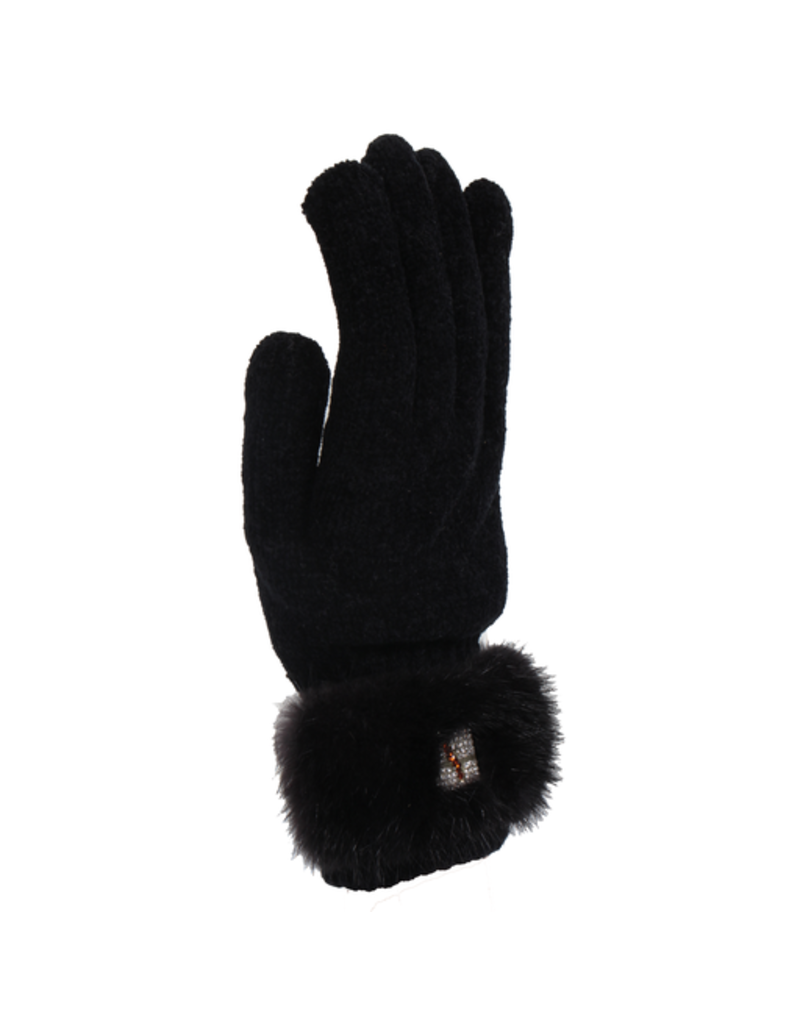 Women's Rabbit Fur Trim Gloves