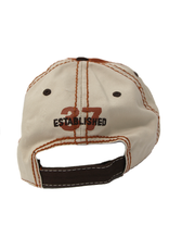 N/A Beck's Distressed Orange/Brown/tan constrast stitch hat