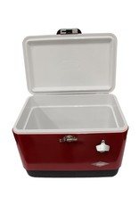 Coleman Coleman Stainless Steel 54 Quart Steel Belted Cooler