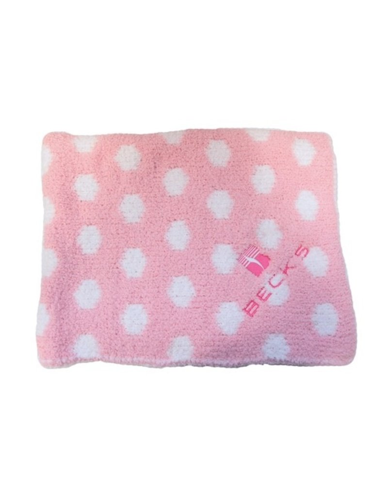 Colorado Clothing 01276 Chunky Chenille Polka Dot Baby Blanket