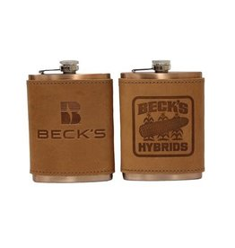 Oowee 02266 Copper Flask with Leather Sleeve